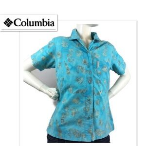 COLUMBIA limited edition button down women's shirt